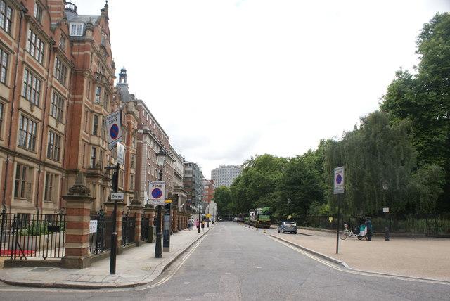 View along Lincoln's Inn Fields from Serle Street