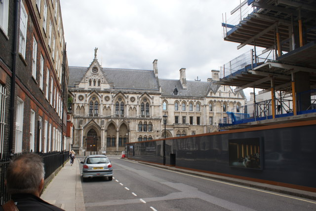 View of the Royal Courts of Justice from Serle Street