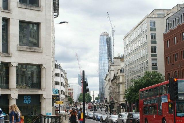View down Farringdon Street from New Bridge Street