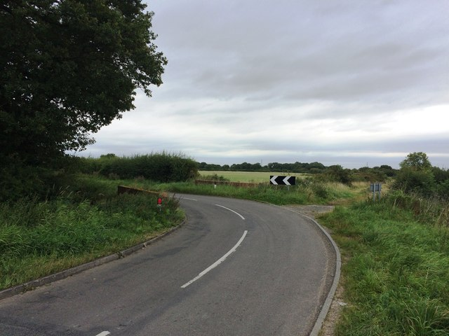 Road Bend and Bridge on Flashey Carr Lane