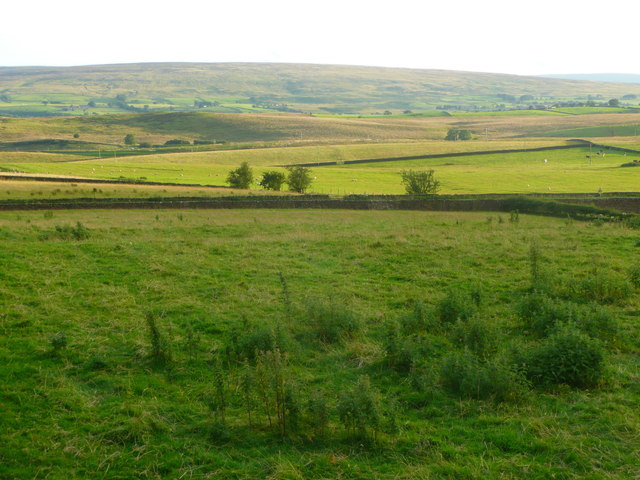 View from the top of a stile on the footpath from Newby to the A65