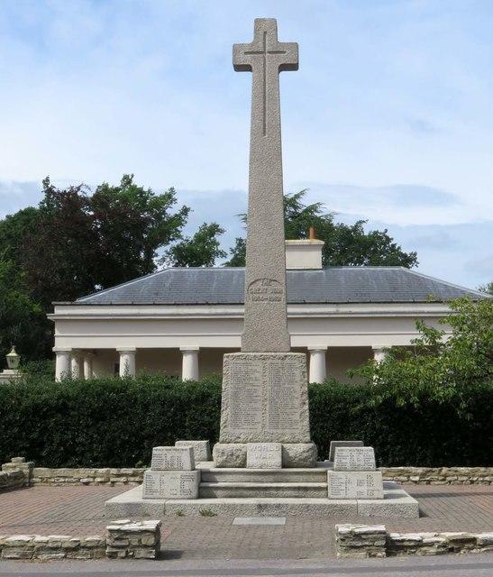 The war memorial in Camberley