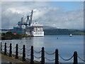 NS2876 : Cruise Ship Marina at Greenock by Thomas Nugent