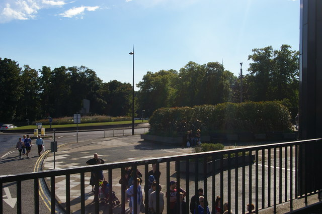 Looking from the Spiral car park towards Civic Drive