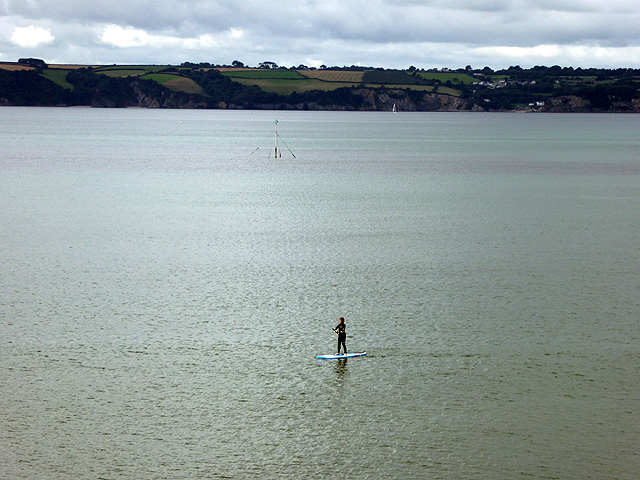 Paddle-boarders do it standing up!