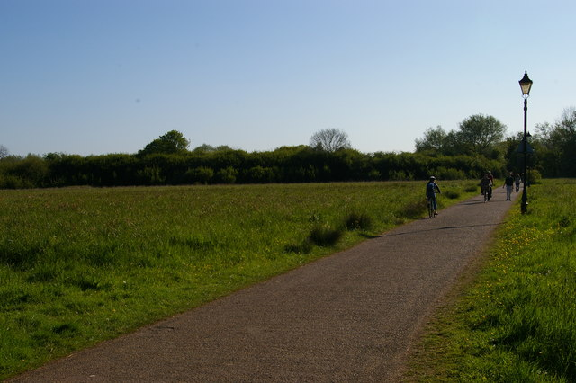 Path across the meadows to New Marston