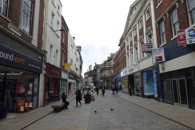 Looking along Whitefriargate