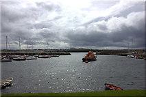 C8540 : Portrush Harbour, looking east by Robert Eva