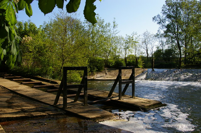 River Cherwell: weir at Parson's Pleasure