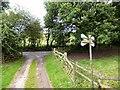 SJ9643 : Farm track off Tickhill Lane by Gerald England