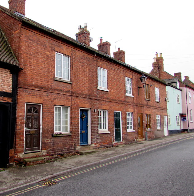 Row of brick houses, Culver Street, Newent