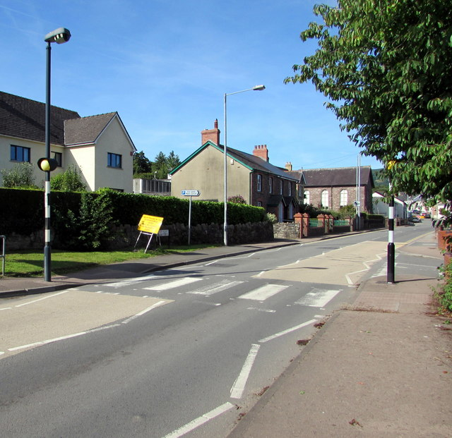 Zebra crossing, Main Road, Gilwern