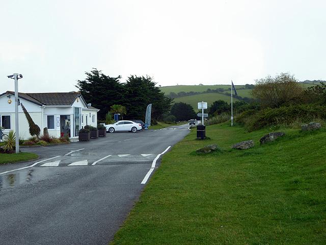 Road through Par Holiday Village