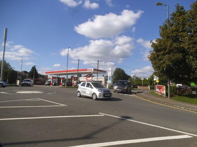 Esso petrol station on Holmer Green Road