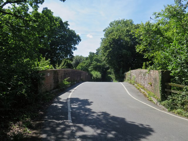 Bridge over the Ryde to Shanklin railway at Harding Shute