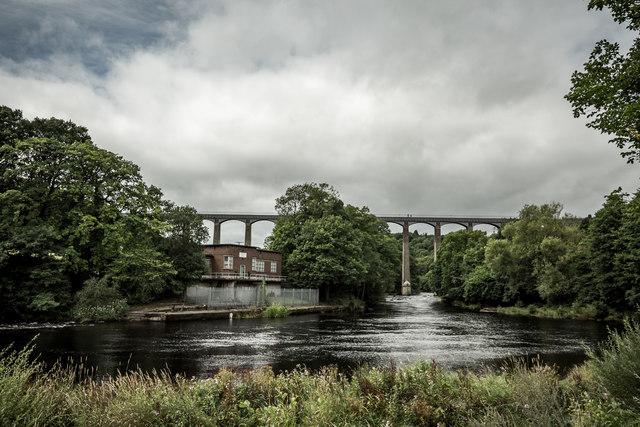Pontcysyllte Aqueduct over the River Dee, Llangollen