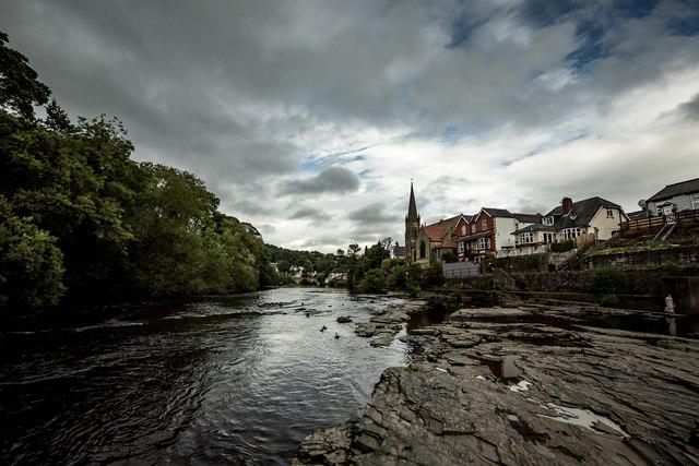 Llangollen , From the River Dee