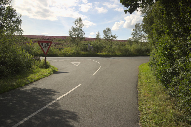 Menwith Hill Road junction with Hardisty Hill