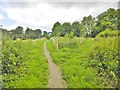 SJ6200 : Much Wenlock, footpath junction by Mike Faherty