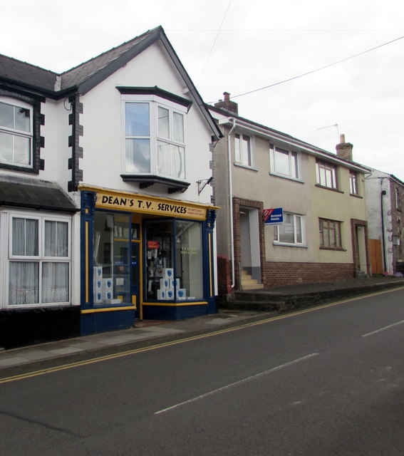 Dean's TV Services shop in Gilwern