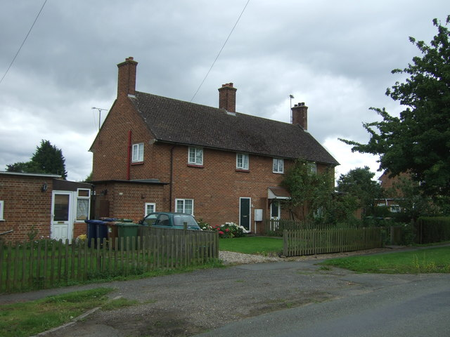 Houses on Wisbech Road, Manea