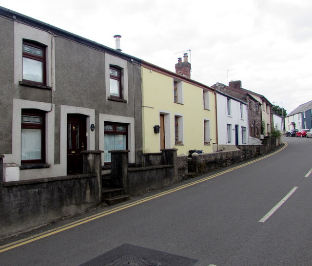 Row of houses, Main Road, Gilwern