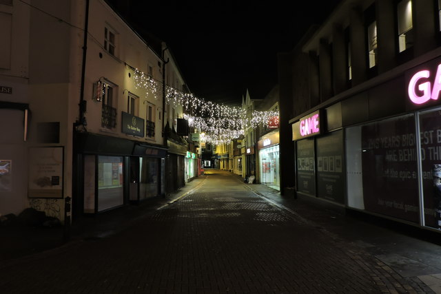 Christmas Lights on Norwich High Street