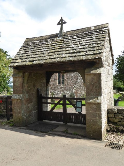 Lych gate to Hewelsfield church