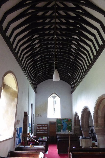 The nave of Hewelsfield church