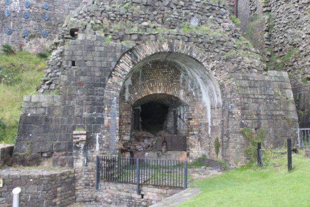 Derelict blast furnace, Blaenavon Ironworks