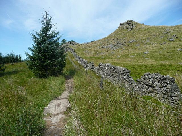 The Gisburn Red Bike Trail near Whelp Stone Crag, Rathmell