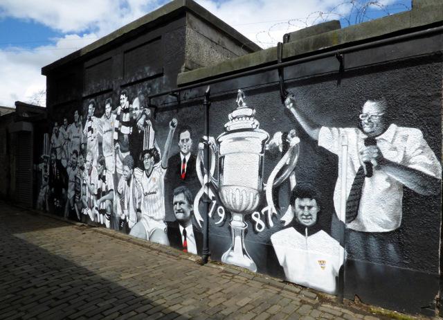 St Mirren FC Mural on Brown's Lane