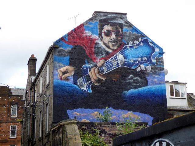 Gerry Rafferty Mural on Brown's Lane