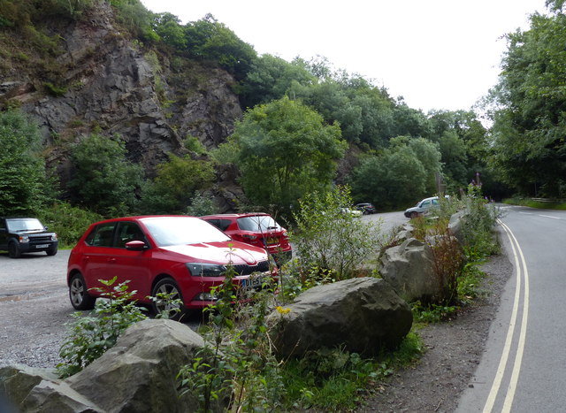 Car park at Lawrence's Hill near the Wrekin