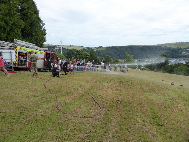 Britannia Royal Naval College - fire brigade demonstration