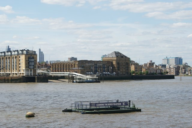 View of Columbia Wharf from the Thames Path