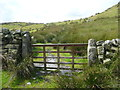 SD7659 : Gate on the footpath to Holden Moor and Whelp Stone Crag, Rathmell by Humphrey Bolton