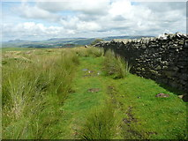 SD7659 : On the footpath from Holden Moor to Whelpstone Lodge, Rathmell by Humphrey Bolton