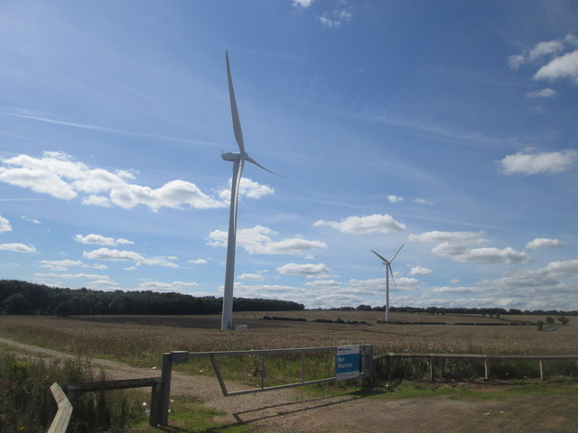 Turbines at Marr Wind Farm