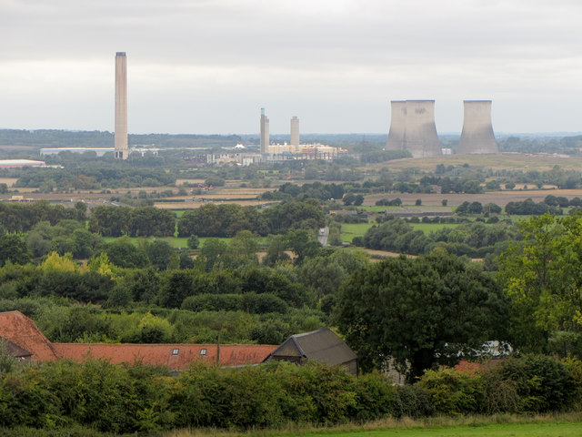View from Wittenham Clumps towards Didcot Power Station