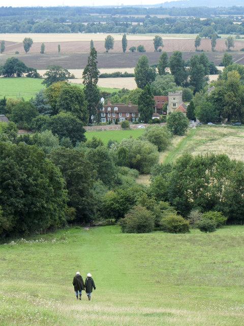 Descent from Wittenham Clumps