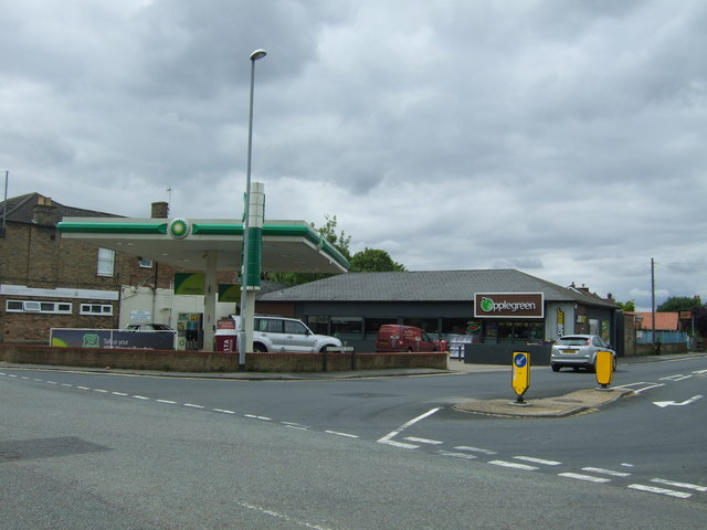 Service station on West Park Road, Chatteris