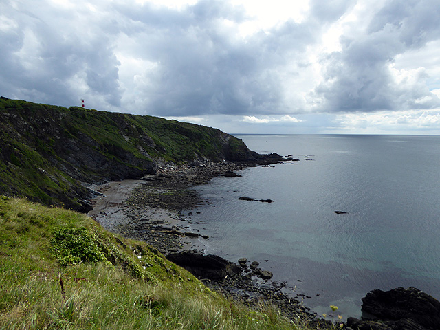 Looking across Platt Cove towards Gribbin Head