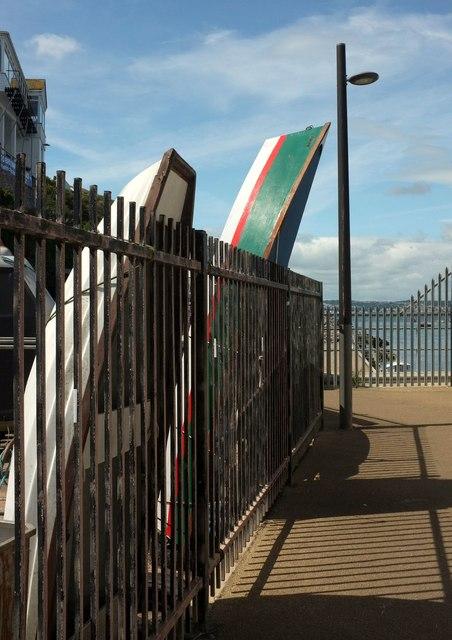 Boats in store at Brixham