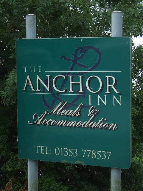 Sign for the Anchor Inn, Sutton Gault