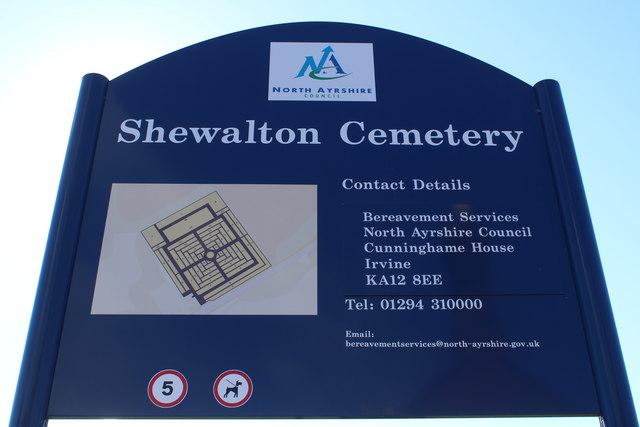 Name Sign, Shewalton Cemetery