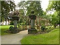 SK4642 : Pergola and marble pillars, Victoria Park, Ilkeston by Alan Murray-Rust