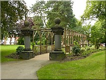 SK4642 : Pergola and marble pillars, Victoria Park, Ilkeston by Alan Murray-Rust