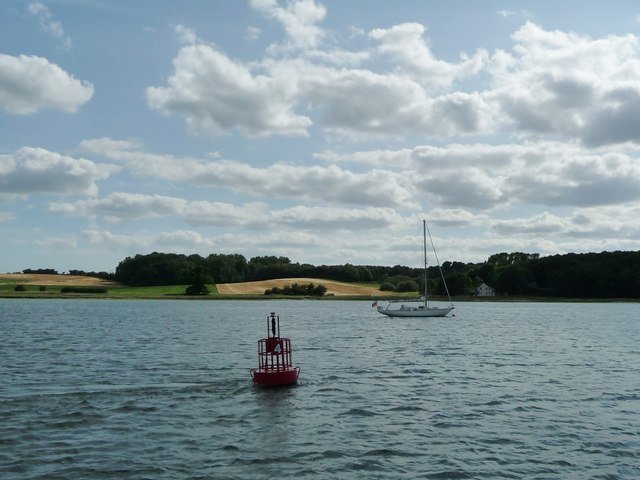 Red navigation buoy No. 4, River Orwell