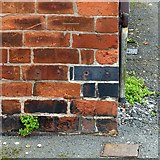 SK4641 : Bench mark, 81 Park Road, Ilkeston by Alan Murray-Rust